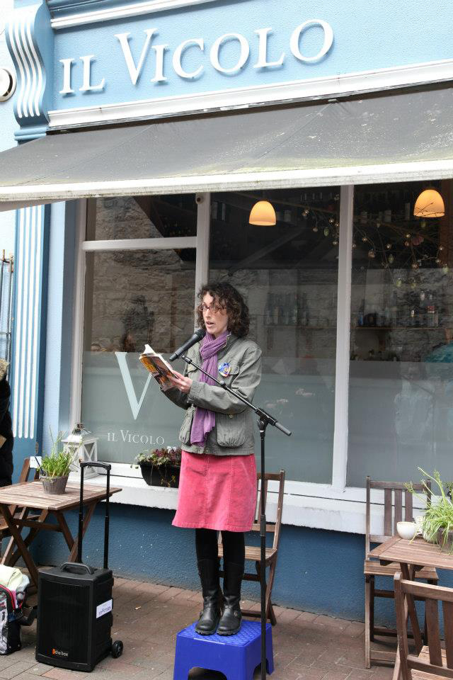 Celeste reading at the Cúirt International Festival of Literature.  [Photo:  Kevin O'Shea]
