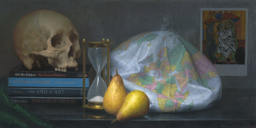 """It's the End of the World as We Know It"" (oil on linen, 12 x 24 inches, 2007)"